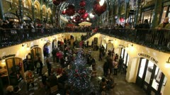 Christmas in Covent Garden Market Stock Footage