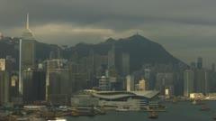 Time Lapse Sunrise over Hong Kong Island Skyline. Stock Footage