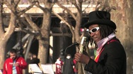 Stock Video Footage of Street Musician - South Bank, London 2 HD