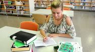 Stock Video Footage of Girl in the library