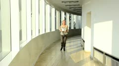 Girl in the school Stock Footage