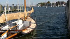 Docked Sailboat Annapolis - stock footage