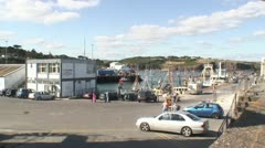 Dunemore East Harbour Stock Footage