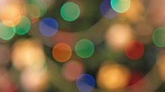 Rack focus christmas lights background Stock Footage