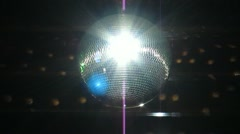 Real Disco Mirror Ball Stock Footage