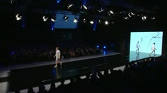 Fashion Show-crane shot Stock Footage
