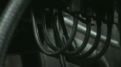 The intertwining of the hose, trunk lines and tubes Stock Footage