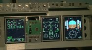 The instrument panel of the aircraft Stock Footage