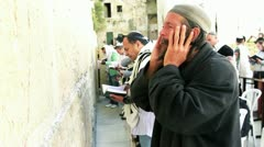Praying at the Western Wall Stock Footage