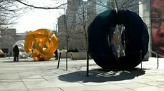 Yvonne Domenge Interconnected sculpture in Chicago Stock Footage