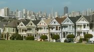 Stock Video Footage of San Francisco Painted Ladies 03 HD