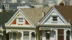 San Francisco Painted Ladies 01 HD Stock Footage
