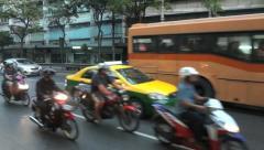 asian traffic in Bangkok - stock footage