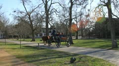 18th century carriage in Williamsburg Stock Footage