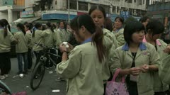 Strike in Chinese factory Stock Footage