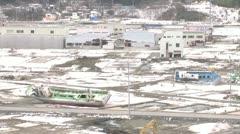Kesennuma destruction area Stock Footage