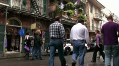 Louisiana state trooper on Mardi Gras streets Stock Footage