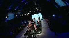 Fashion Show-Finale -crane shot Stock Footage
