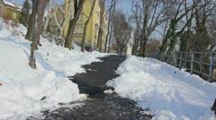 The Strossmayer walkway Stock Footage