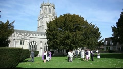 UK Church Wedding (Wide) Stock Footage
