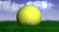 Tennis grass 3 Stock Footage