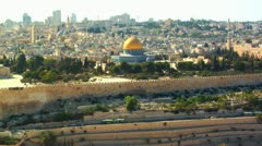 047 DOME OF THE ROCK JERUSALEM Stock Footage