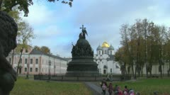 Millennium of Russia Monument Stock Footage