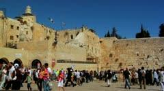 046 WESTERN WALL JERUSALEM Stock Footage