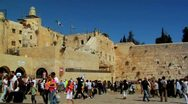 Stock Video Footage of 046 WESTERN WALL JERUSALEM
