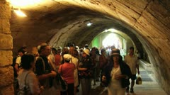 061 time lapse,  tourists visit the western wall tunnels Stock Footage