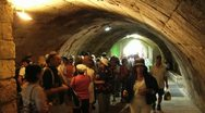 Stock Video Footage of 061 time lapse,  tourists visit the western wall tunnels
