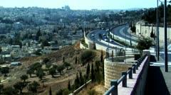 059 main road in east jerusalem Stock Footage