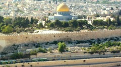 060 DOME OF THE ROCK JERUSALEM Stock Footage