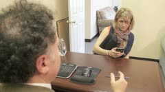 Bad Interview Etiquette - Texting. Stock Footage