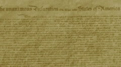 Declaration of Independence, Film effect Stock Footage