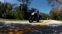 Motorcycles cruising in Ormond Beach, Florida Stock Footage