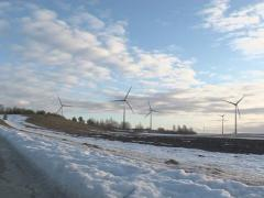 Melting snow wind energy Stock Footage