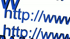 Http address. Web Stock Footage