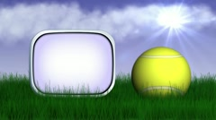 Tennis grass rotation 2 Stock Footage