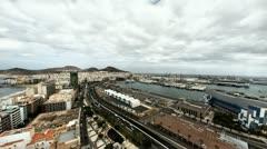 4K UHD Las Palmas de Gran Canaria city skyline aerial, looking North timelapse Stock Footage