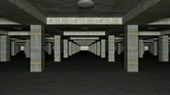 3D Basement Carpark Stock Footage