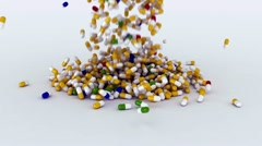 Piluli mnogo  FotoJ Stock Footage