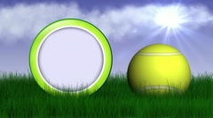 Tennis grass rotation 4 Stock Footage