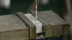 Drilling in Metal Stock Footage