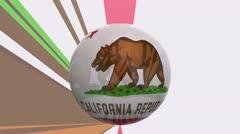 California flag hd Stock Footage