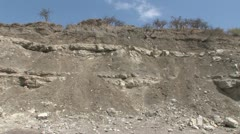 Site of Mary Leakey's discovery in Olduvai Gorge Stock Footage
