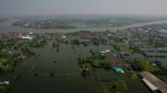 Thailand Flood aerials Oct 25 file 0029 3 Stock Footage