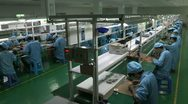 Stock Video Footage of Electronic factory in China