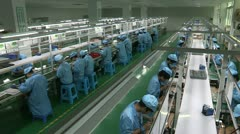 Electronic factory in China - stock footage