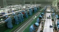 Electronic factory in China Stock Footage